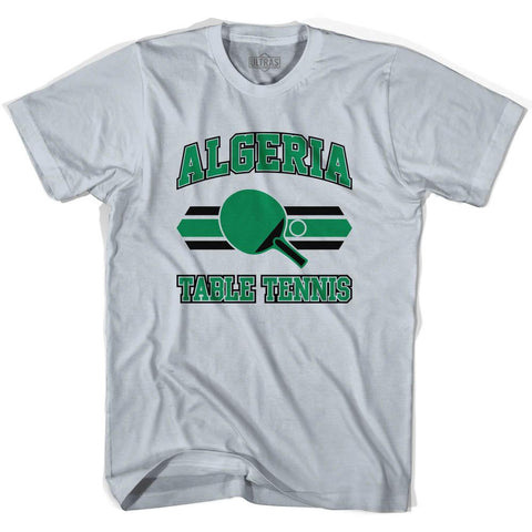 Algeria Table Tennis Adult Cotton T-Shirt