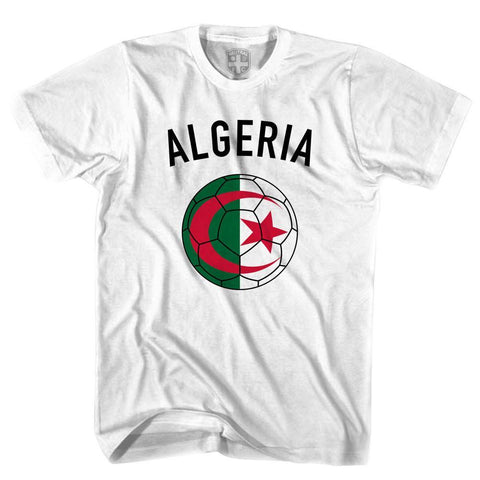 Algeria Soccer Ball T-shirt-Adult