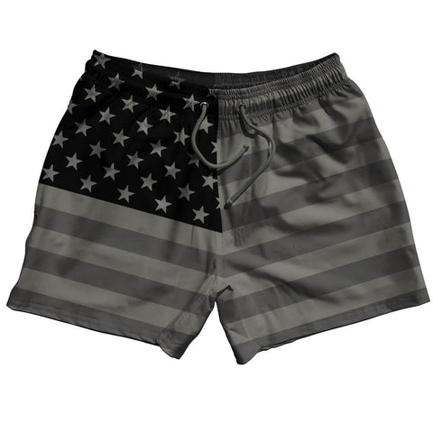 American Flag Blackouts Swim Shorts 5""