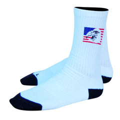 American Eagle Crew Socks in White by Mile End Sportswear