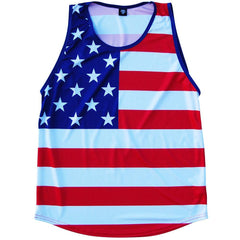 American Flag Sport Tank in Red White Blue by Mile End Sportswear