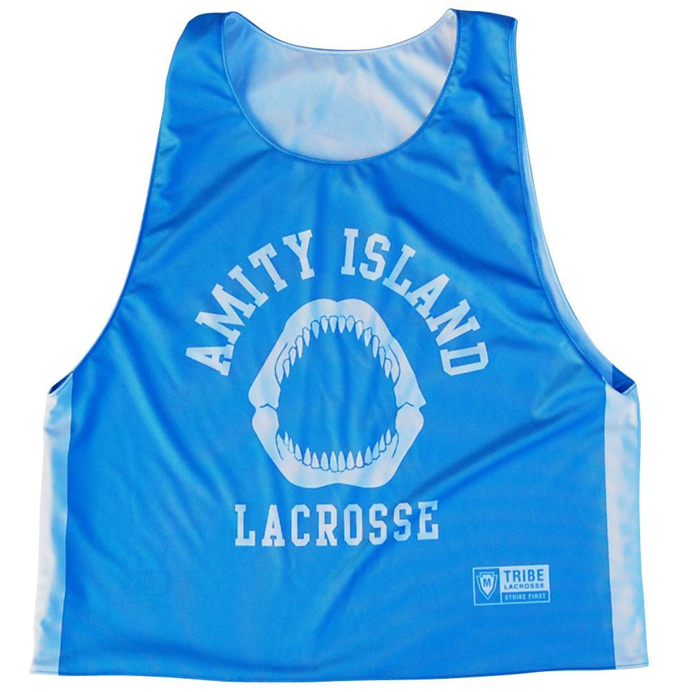 Amity Island Lacrosse Reversible Pinnie in Light Blue by Tribe Lacrosse