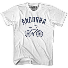 Andorra Vintage Bike T-shirt in White by Mile End Sportswear