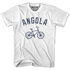 Angola Vintage Bike T-shirt in White by Mile End Sportswear