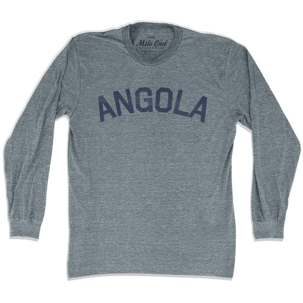 Angola City Vintage Long Sleeve T-shirt in Athletic Grey by Mile End Sportswear