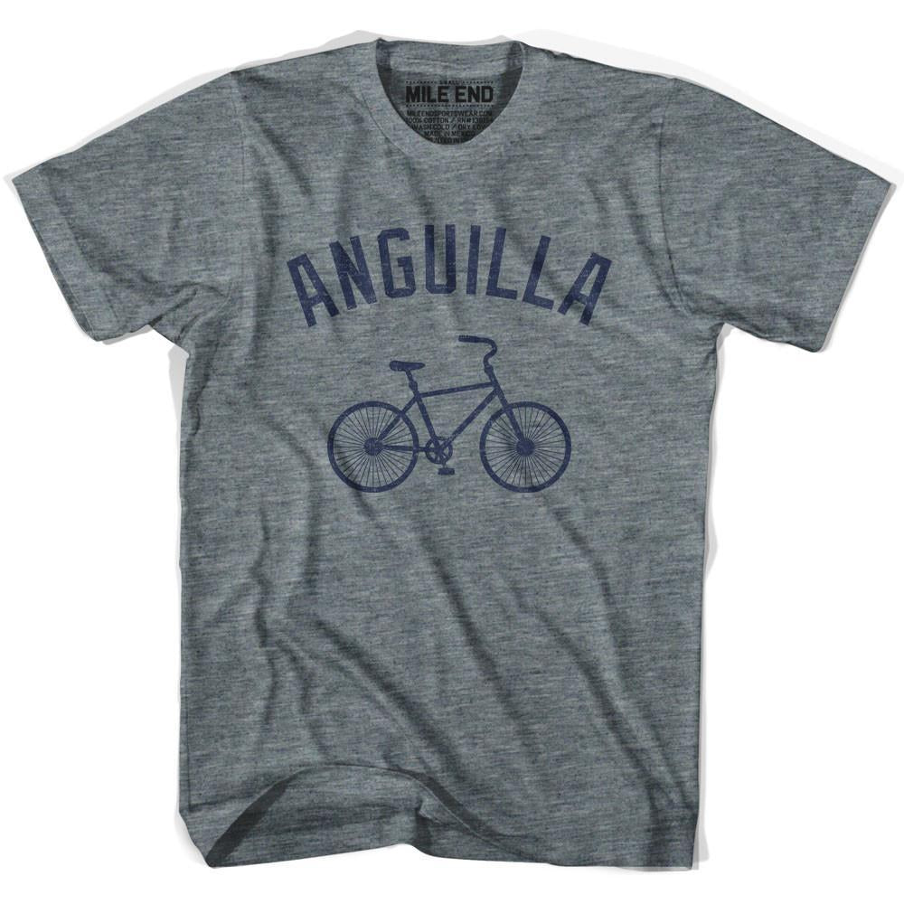 Anguilla Vintage Bike T-shirt in Athletic Grey by Mile End Sportswear