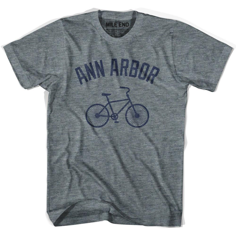 Ann Arbor Vintage Bike T-shirt in Athletic Grey by Mile End Sportswear