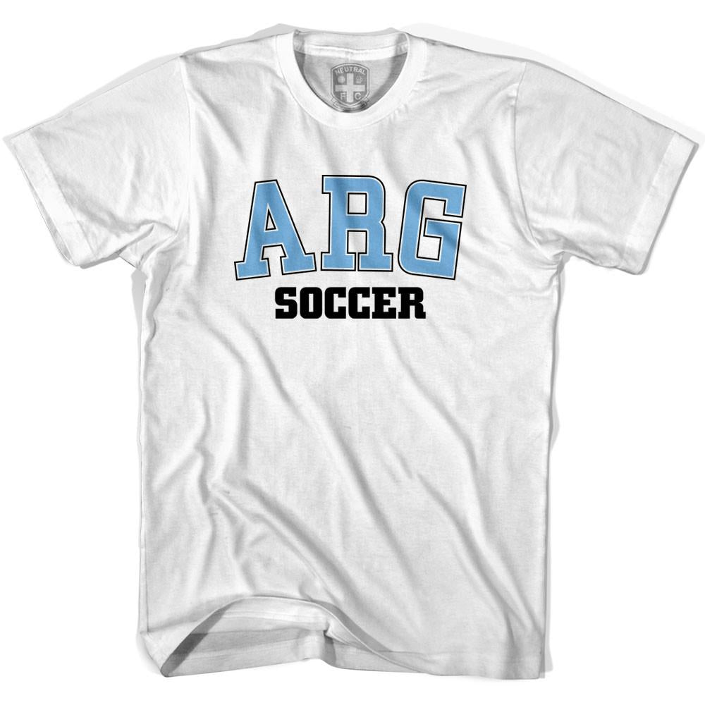 Argentina ARG Soccer Country Code T-shirt in White by Neutral FC
