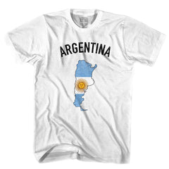 Argentina Flag & Country T-shirt in White by Neutral FC