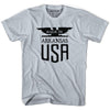 Made in Arkansas Vintage Eagle T-shirt in White by Mile End Sportswear