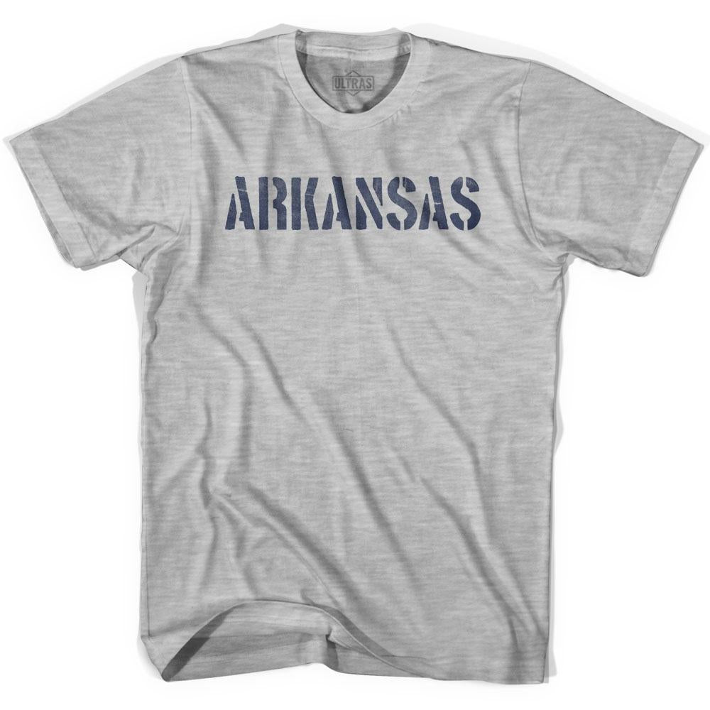 Arkansas State Stencil Womens Cotton T-shirt by Ultras