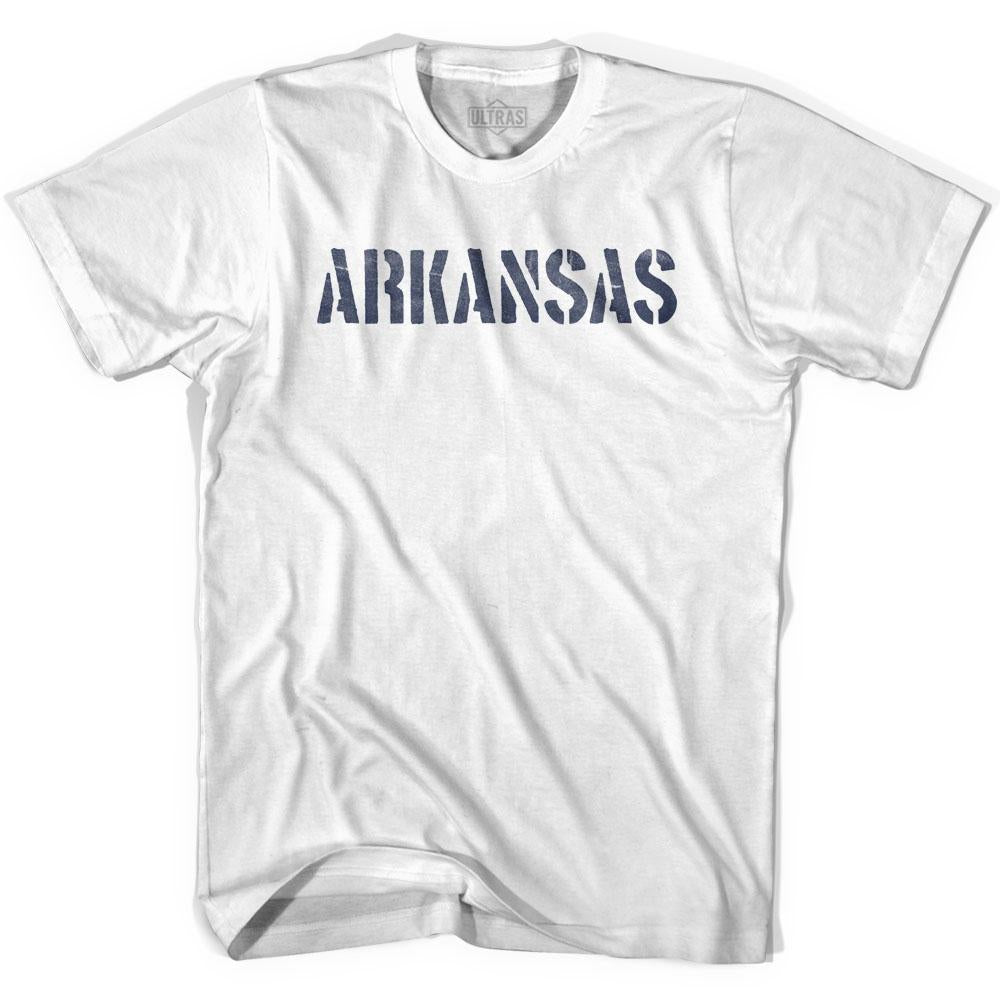 Arkansas State Stencil Youth Cotton T-shirt by Ultras