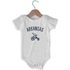 Arkansas City Tricycle Infant Onesie in White by Mile End Sportswear