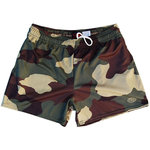 Army Camo Rugby Shorts