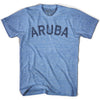 Aruba City Vintage T-shirt in Athletic Blue by Mile End Sportswear