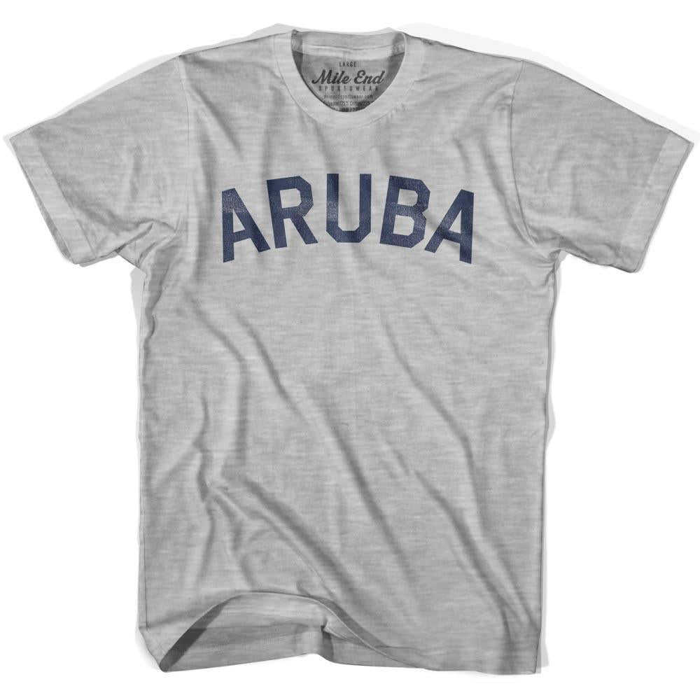 Aruba City Vintage T-shirt in Grey Heather by Mile End Sportswear
