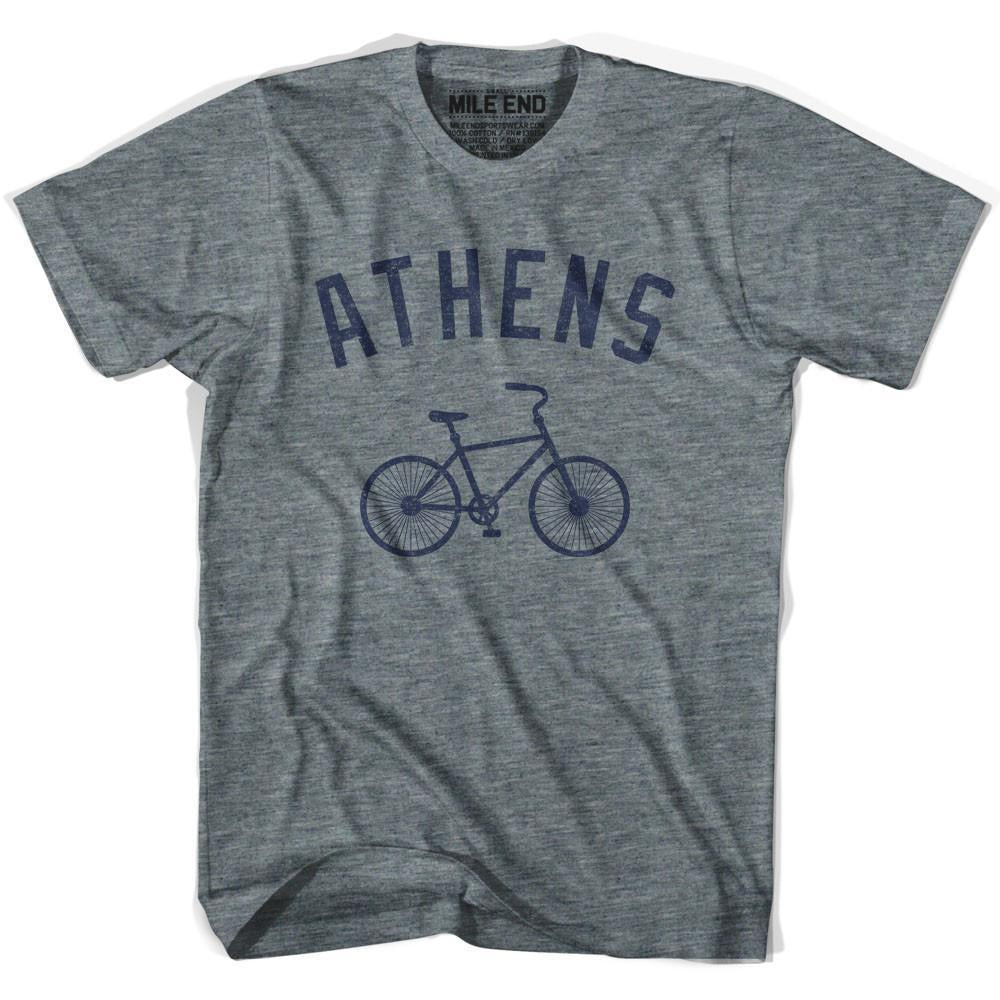 Athens Vintage Bike T-shirt in Athletic Grey by Mile End Sportswear