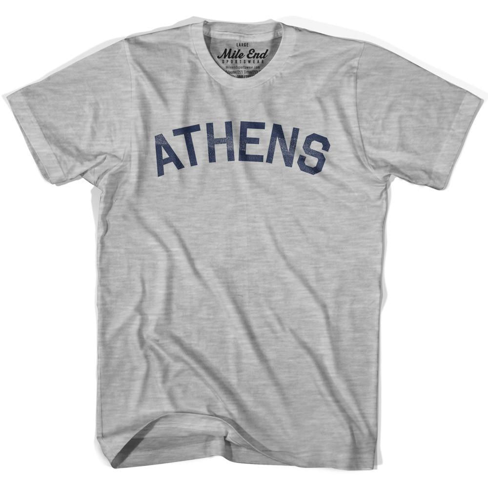 Athens City Vintage T-shirt in Grey Heather by Mile End Sportswear