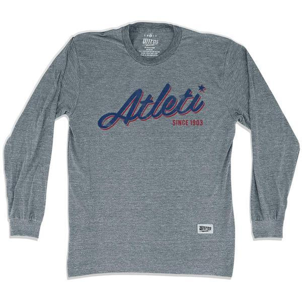 Atletico Madrid Atleti Soccer Long Sleeve T-shirt in Athletic Grey by Ultras