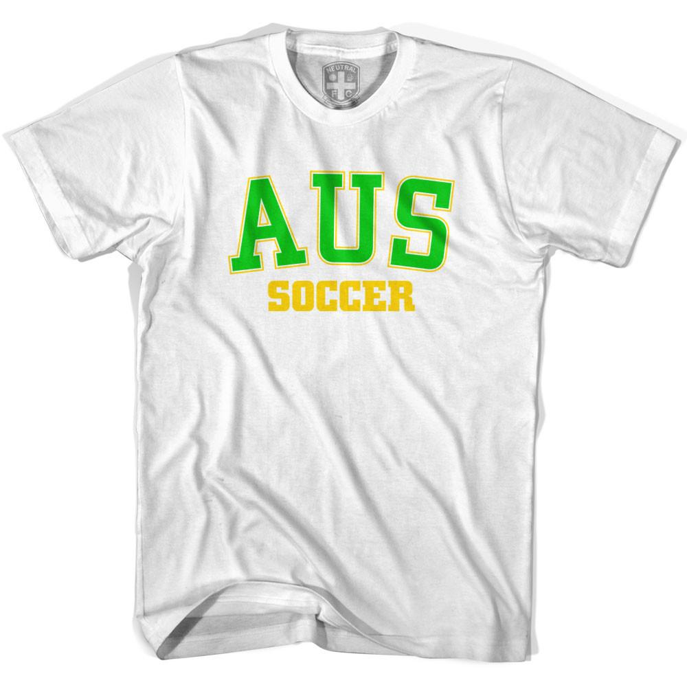 Australia AUS Soccer Country Code T-shirt in White by Neutral FC