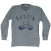 Austin Bike Long Sleeve T-shirt in Athletic Grey by Mile End Sportswear