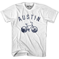 Austin Bike T-shirt in Heather Grey by Mile End Sportswear