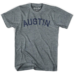 Austin City Vintage T-shirt in Athletic Blue by Mile End Sportswear