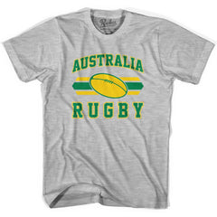 Australia 90's Rugby Ball T-shirt in White by Ruckus Rugby