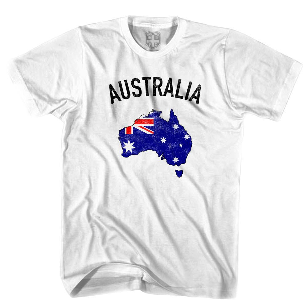 Australia Flag & Country T-shirt in White by Neutral FC