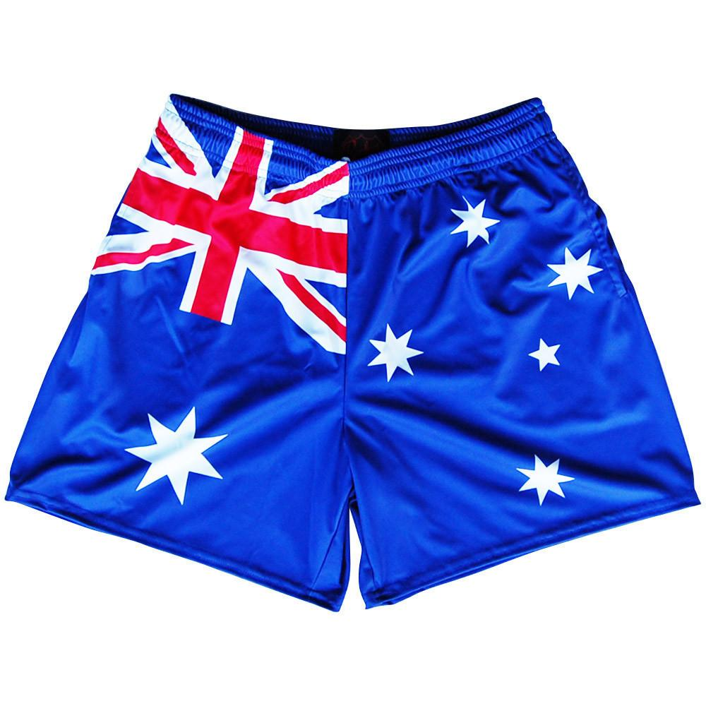 Australia Flag Rugby Shorts in Royal by Ruckus Rugby