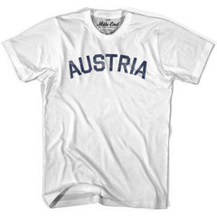 Austria City Vintage T-shirt in Grey Heather by Mile End Sportswear