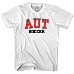 Austria AUT Soccer Country Code T-shirt in White by Neutral FC