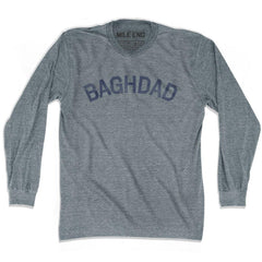 Baghdad City Vintage T-shirt Long Sleeve in Athletic Grey by Mile End Sportswear