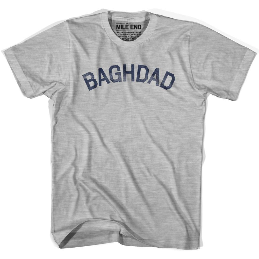 Baghdad City Vintage T-shirt in Grey Heather by Mile End Sportswear