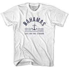 Bahamas Anchor Life on the Strand T-shirt in White by Life On the Strand