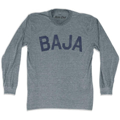 Baja City Vintage Long Sleeve T-shirt in Athletic Grey by Mile End Sportswear