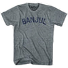Banjul City Vintage T-shirt in Athletic Blue by Mile End Sportswear