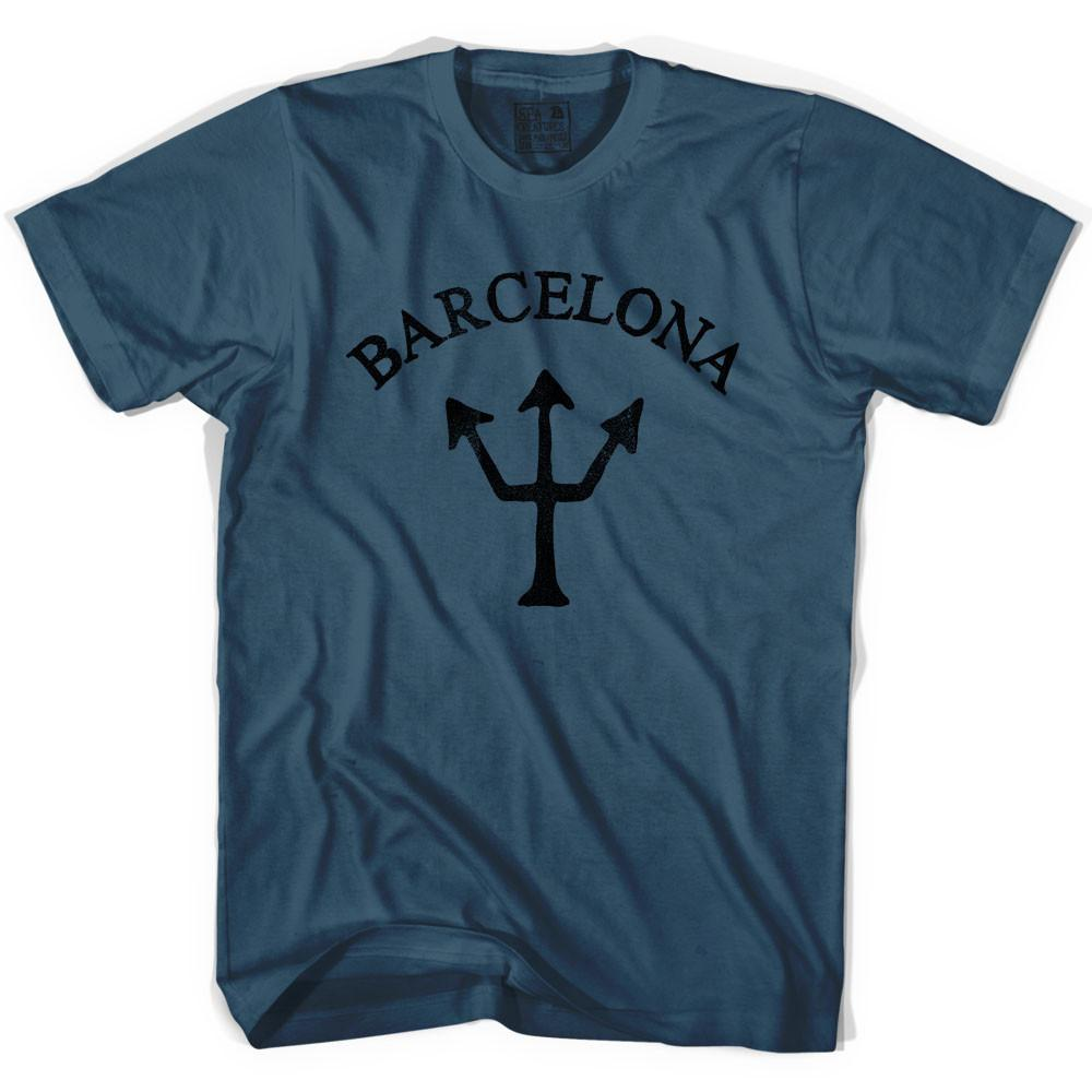 Barcelona Trident T-shirt in Lake by Life On the Strand