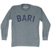 Bari City Vintage Long-Sleeve T-shirt in Athletic Grey by Mile End Sportswear