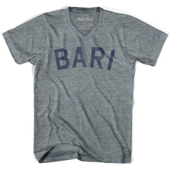 Bari City City Vintage V-neck T-shirt in Athletic Grey by Mile End Sportswear