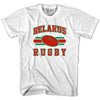 Belarus Rugby Ball 90's Rugby Ball T-shirt in White by Ruckus Rugby