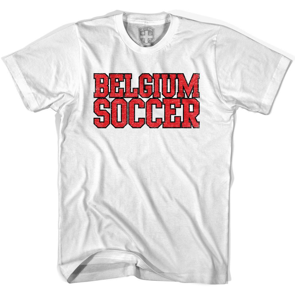 Belgium Soccer Nations World Cup T-shirt in White by Neutral FC