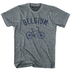 Belgium Vintage Bike T-shirt in Athletic Grey by Mile End Sportswear