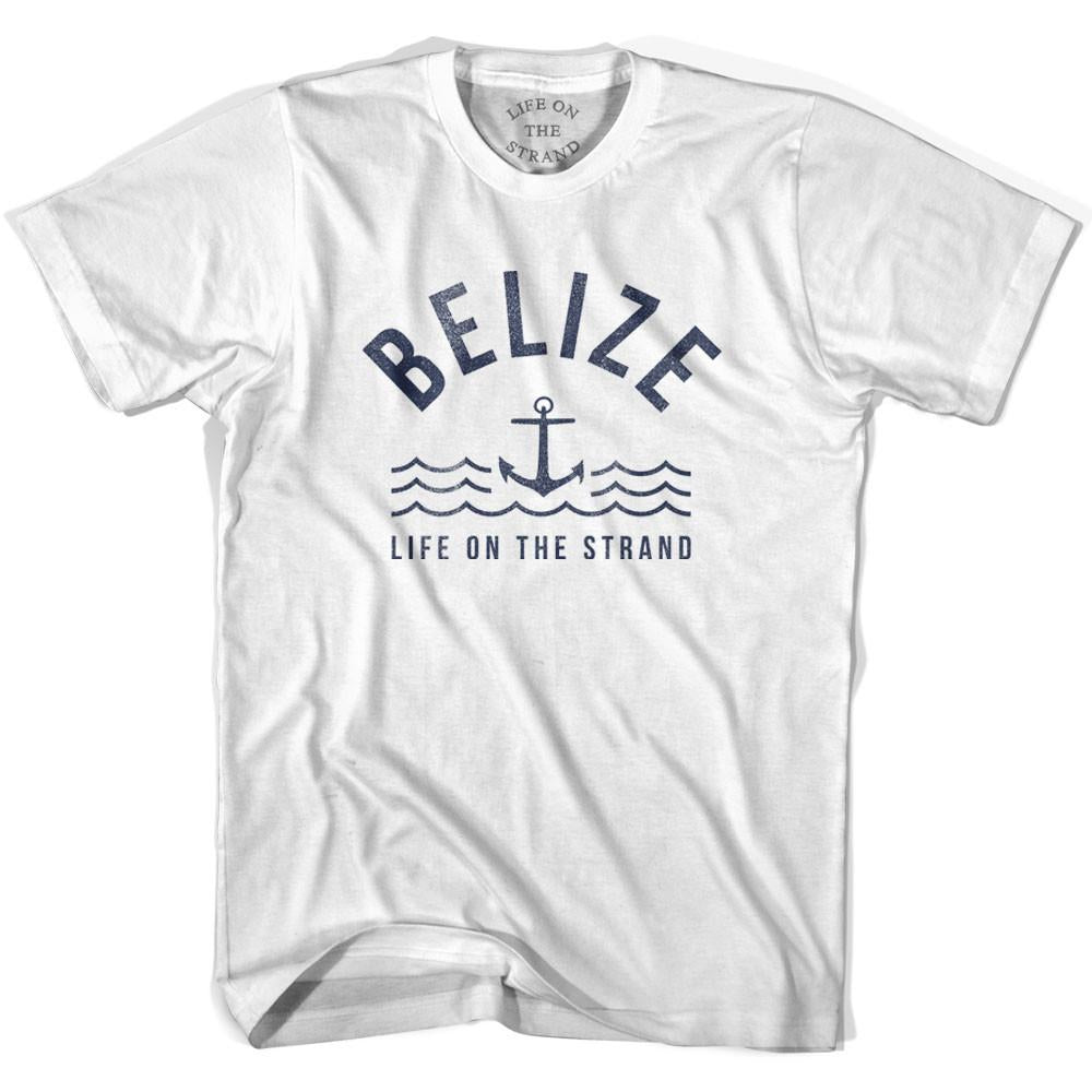 Belize Anchor Life on the Strand T-shirt in White by Life On the Strand