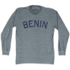 Benin City Vintage  Long Sleeve T-shirt in Athletic Grey by Mile End Sportswear