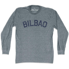 Bilbao City Vintage Long-Sleeve T-shirt in Athletic Grey by Mile End Sportswear