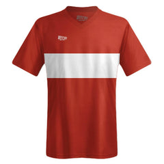 Ultras Boca Custom Team Soccer Jersey in Red-Cardinal/White by Ultras