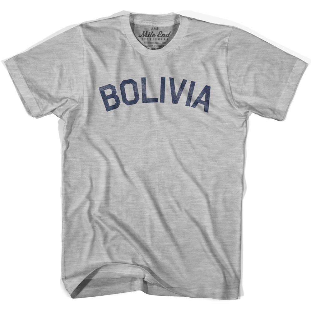 Bolivia City Vintage T-shirt in Grey Heather by Mile End Sportswear