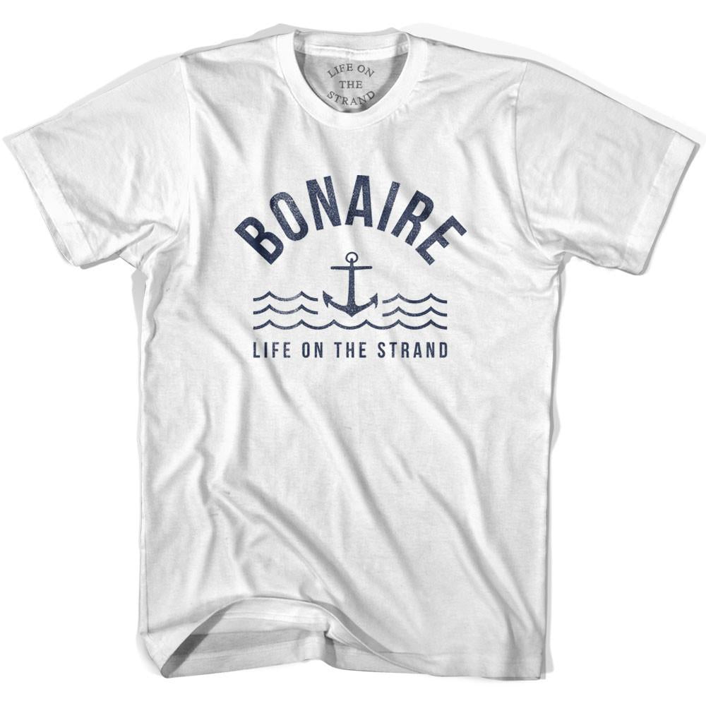 Bonaire Anchor Life on the Strand T-shirt in White by Life On the Strand