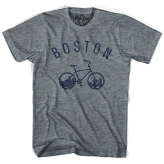 Boston Bike T-shirt in Athletic Blue by Mile End Sportswear
